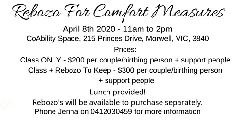 Rebozo For Comfort Measures Class (pregnancy & birth)