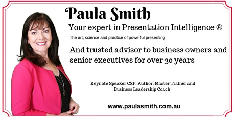 Presentation Skills - Public Speaking Master Class with Paula Smith CSP tickets