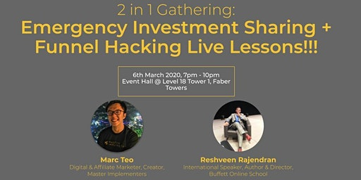 Emergency Investment Sharing + Funnel Hacking Live Lessons!!!