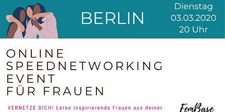 Berlin Speednetworking Event für Frauen Tickets