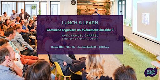 Lunch & Learn : Comment organiser un événement durable ?