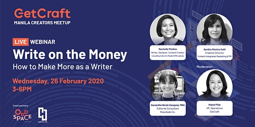 Write on the Money: How to Make More as a Writer [LIVE WEBINAR]