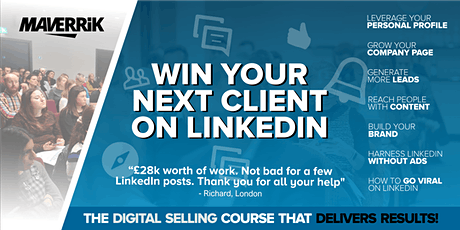 Win your next client on LinkedIn SOUTHAMPTON Grow your business on LinkedIn tickets