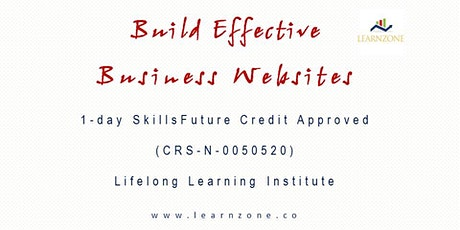 Build Effective Business Websites (1-day Skills Future Credit Approved, CRS-N-0050520) tickets
