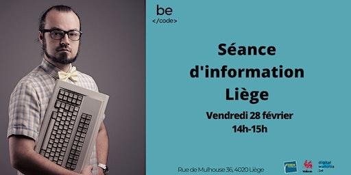 Séance d'information Liège