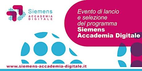 Siemens Accademia Digitale: evento di lancio e selezione biglietti