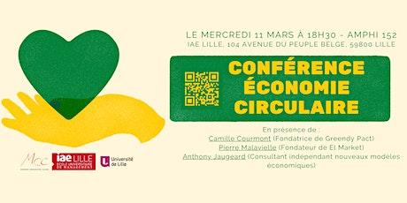 Conférence sur l'économie circulaire billets