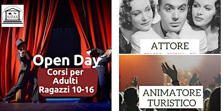 Prenotazione Open Day - Corsi di formazione adulti e ragazzi per Attore - Doppiatore - Animatore turistico biglietti