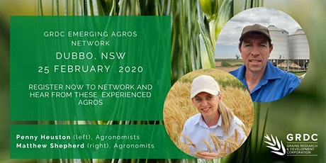 GRDC Emerging Agros Network   Dubbo tickets