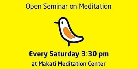 Meditation Seminar for the beginners tickets