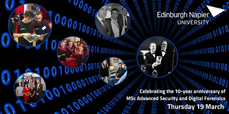 Celebrate MSc Advanced Cyber Security and Digital Forensics' 10th birthday! tickets