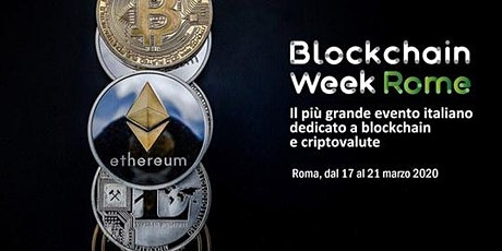 Blockchain Week Rome 2020 biglietti