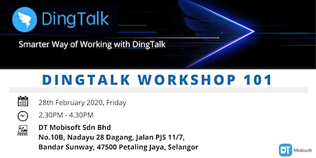 FREE DingTalk Digitization Workshop tickets