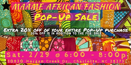 Maame African Fashion Pop-Up Sale
