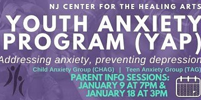 Youth Anxiety Program PARENT INFO SESSION