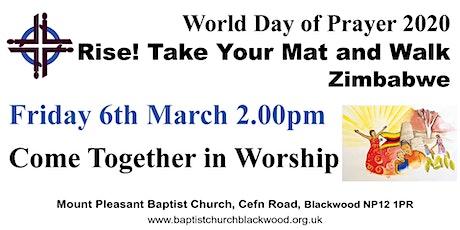 World Day of Prayer 2020, Blackwood tickets