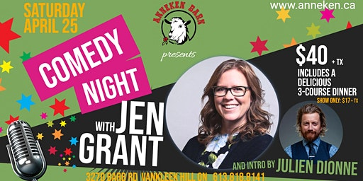 Comedy Night with JEN GRANT and intro by Julien Dionne