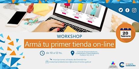 """Workshop """"Arma tu PRIMER TIENDA ON-LINE"""" entradas"""