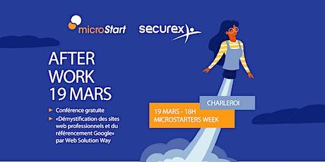 Afterwork starters & entrepreneurs par microStart & Securex @ Charleroi billets