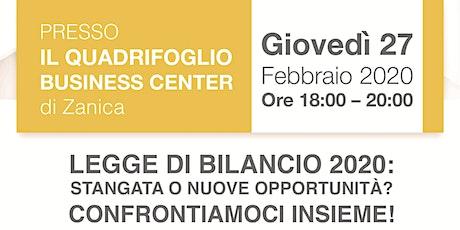 SEMINARIO SULLA LEGGE DI BILANCIO 2020 biglietti