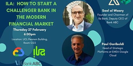 Ila - Opening a Challenger Bank in the Middle East tickets