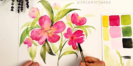 Watercolour Painting Workshop - Mother's Day Florals! tickets