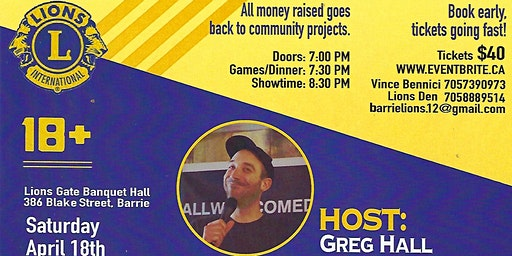 Barrie Lions Club Comedy Night
