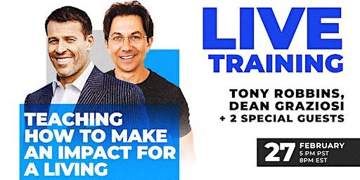 LIVE: TONY ROBBINS & DEAN GRAZIOSI Event! (Hilton Head Island) *2/27/20*
