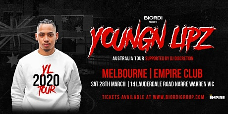 Youngn Lipz - Melbourne 2020 (+18) tickets