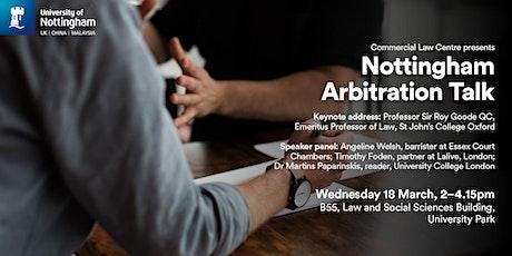Nottingham Arbitration Talk tickets