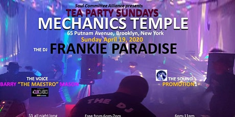 A Tea Party Sunday Dance Event Frankie Paradise tickets