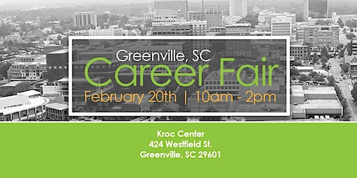 Free Career Fair and Networking Event-Greenville, SC