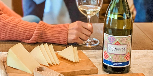 Gooseneck Vineyards wines paired with Captain's Table cheeses