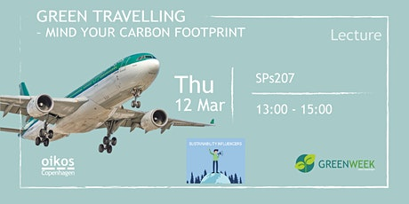 Green Week: Green Traveling - Mind your carbon footprint tickets