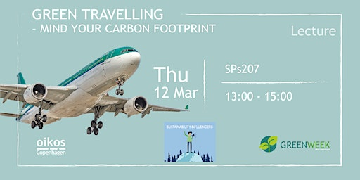 Green Week: Green Traveling - Mind your carbon footprint