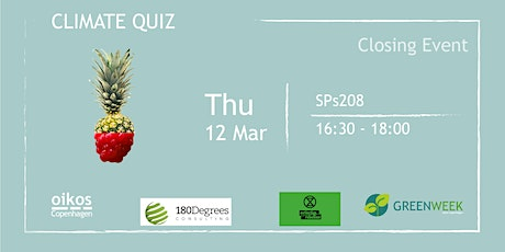 Green Week: Final Event | Climate Quiz ft. Extinction Rebellion tickets