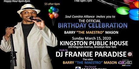 Barry Mason Birthday Event Frankie Paradise tickets