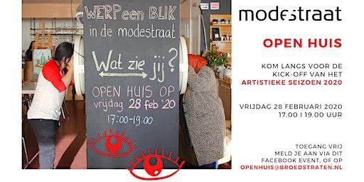Open Huis bij de Modestraat: kick-off artistiek programma 2020!