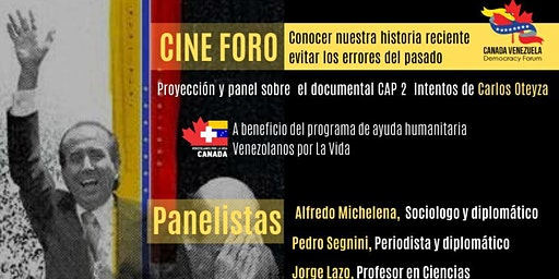 Proyección y panel sobre el documental CAP 2 intentos del cineasta Carlos Oteyza