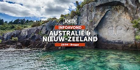 Infoavond over Australië/Nieuw-Zeeland  in Brugge  - individuele rondreizen tickets