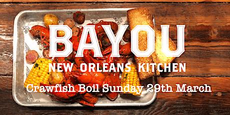 Bayou's Mardi Gras Crawfish Boil tickets