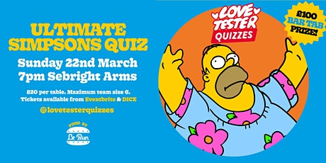 The Ultimate Simpsons Quiz tickets