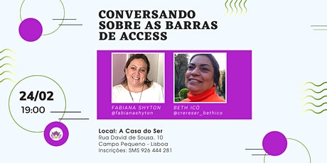 Conversando sobre as Barras de Access® bilhetes