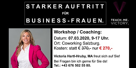 STARKER AUFTRITT für Business-Frauen. Tickets