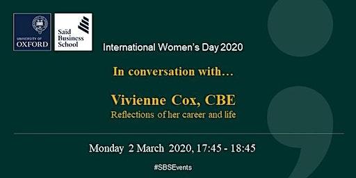 Distinguished Speaker Seminar - Vivienne Cox CBE