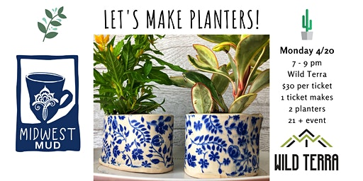 Let's Make Planters at Wild Terra • April 20th!