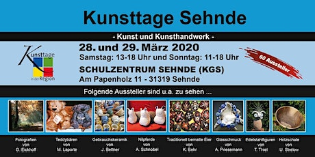 Kunsttage Sehnde 2020 Tickets