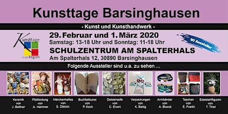 Kunsttage Barsinghausen - Der Kunsthandwerkermarkt Tickets
