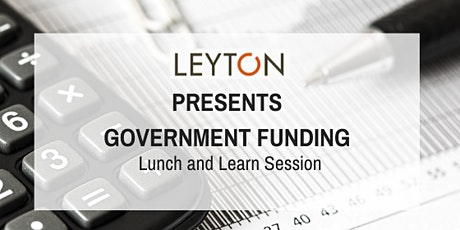 "Leyton Canada presents ""SR&ED and Government Incentive Programs"" tickets"