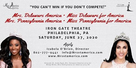 Mrs. DE & PA America/Miss DE & PA for America Pageants 2020 tickets